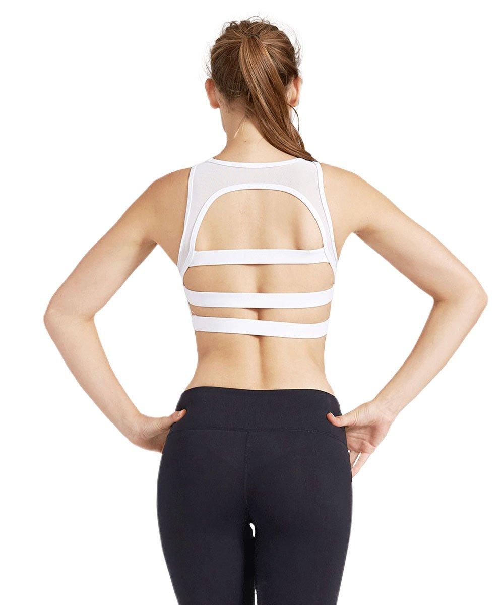 Light&Leaf Women's High Impact Padded Open Back Yoga Sports Bra Crop Tank Top by Light&Leaf (Image #3)