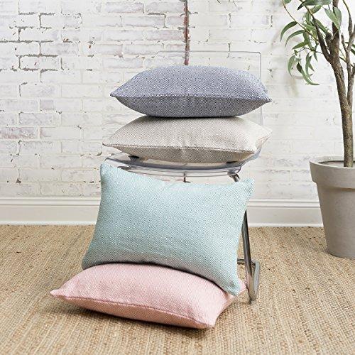 Yarn Blake (carol & frank Blake Lagoon Solid Cotton Woven Pillow 14 x 22 Lagoon)