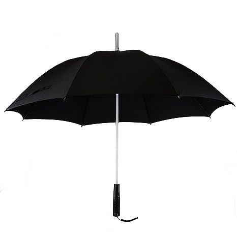 7dayshop – Multi cambia de color paraguas con construido en linterna LED (negro)