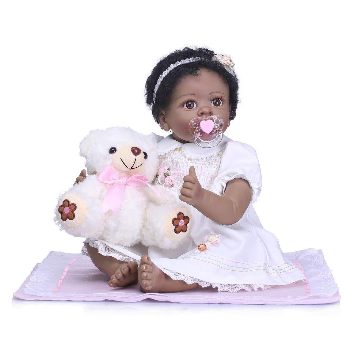 Fantasyworld Bambola Reborn NPK di Simulazione del Giocattolo del Bambino Morbido Silicone realistica Newborn Toy Doll Carino Balneazione per Bambini Genitori Giocattolo