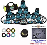 Speed Stacks Combo Set ''The Works'': 12 TATTOO 4'' Cups, REBEL MUDD Gen 3 Mat, G4 Pro Timer, Cup Keeper, Stem, Gear Bag + Active Energy Necklace