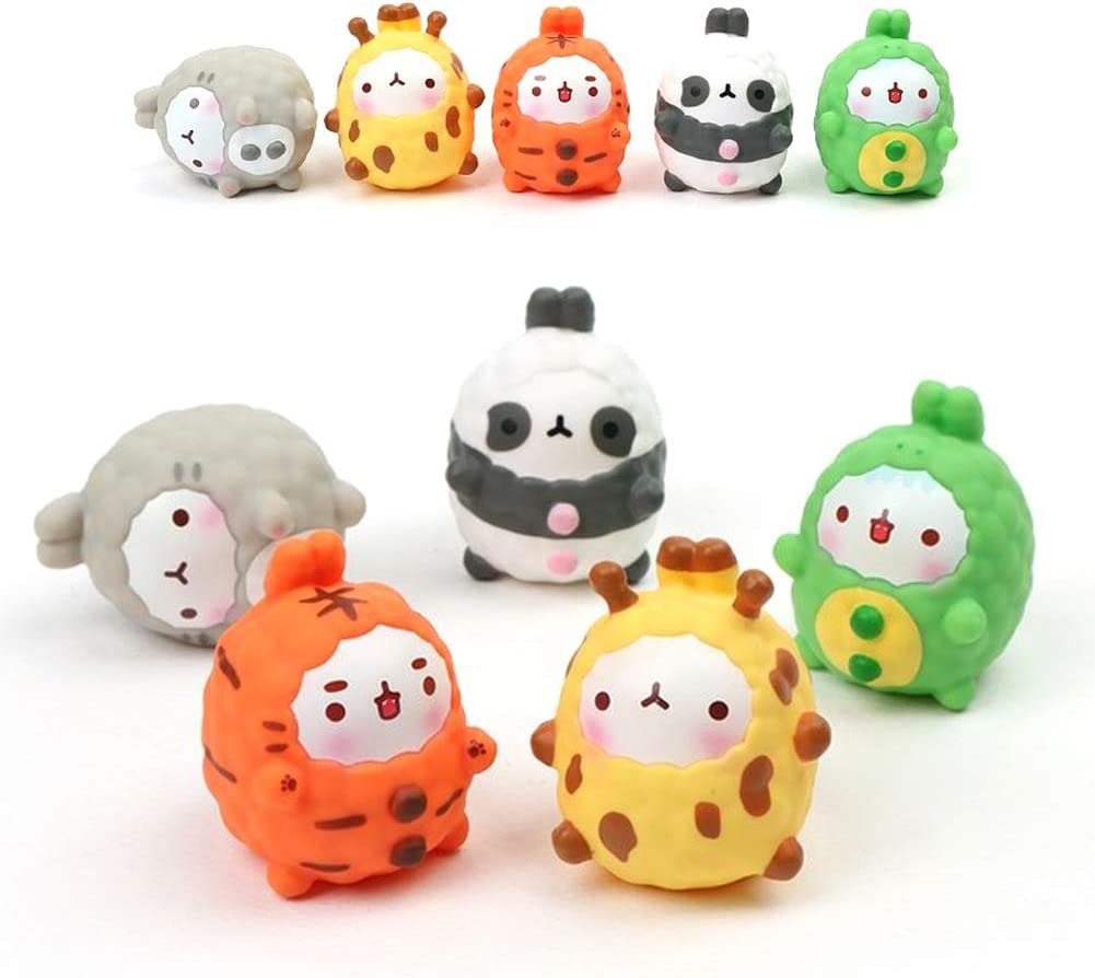PYF Animal Costume Molang Action Figure Toy Set of 5