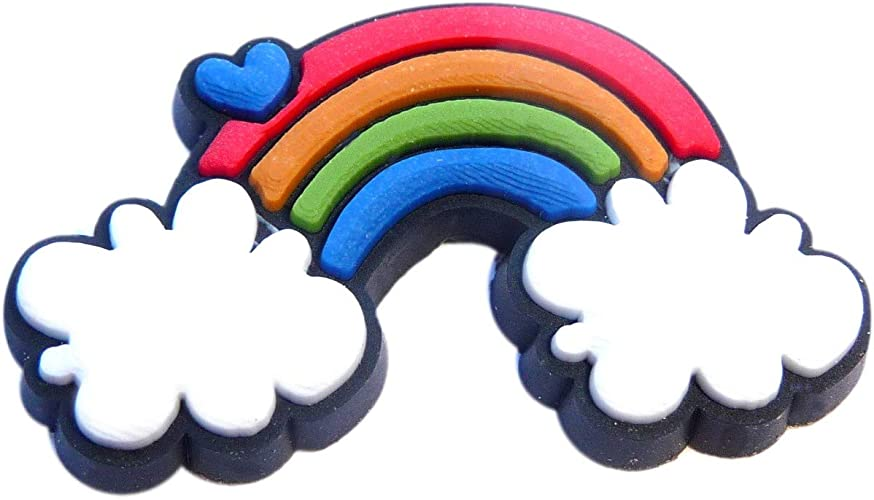Rainbow Rubber Charm for Wristbands and Shoes