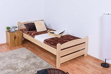 Somier/cama de madera de haya maciza madera 118, con somier ...