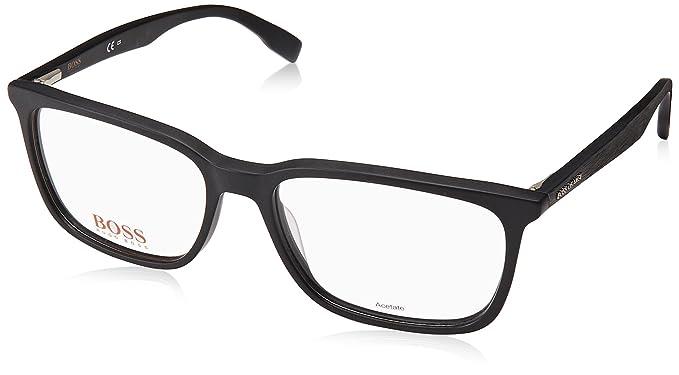 Amazon.com: Hugo Boss frame (BO-0303 003) Acetate Matt Black - Black ...