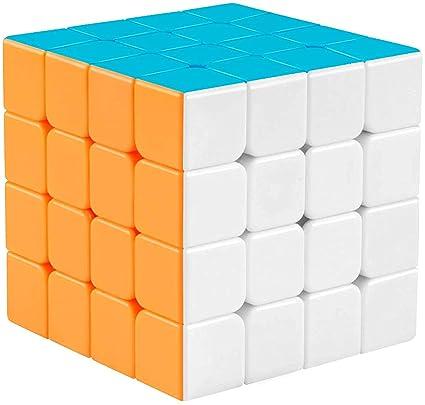 Big Hub 4x4 Stickerless High Speed Magic Cube for Kids, Multicolor