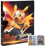 Storage Album Compatible Pokemon Cards, Cards Holder Compatible Pokemon Card GX MEGA and EX, Album Binder Compatible…