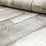 Exclusive Arthouse Driftwood Panel Pattern Wood Faux Effect Wallpaper (Natural 666603)
