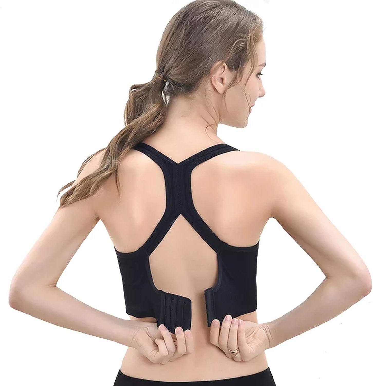 Ruzixt Women Padded Sports Bra Longline Camisole Crop Tank Tops Seamless Workout Fitness Yoga Bras