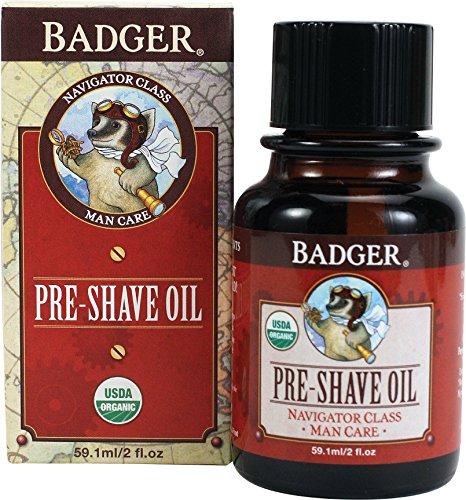 (Badger Pre-Shave Oil - 2 fl oz Glass Bottle)