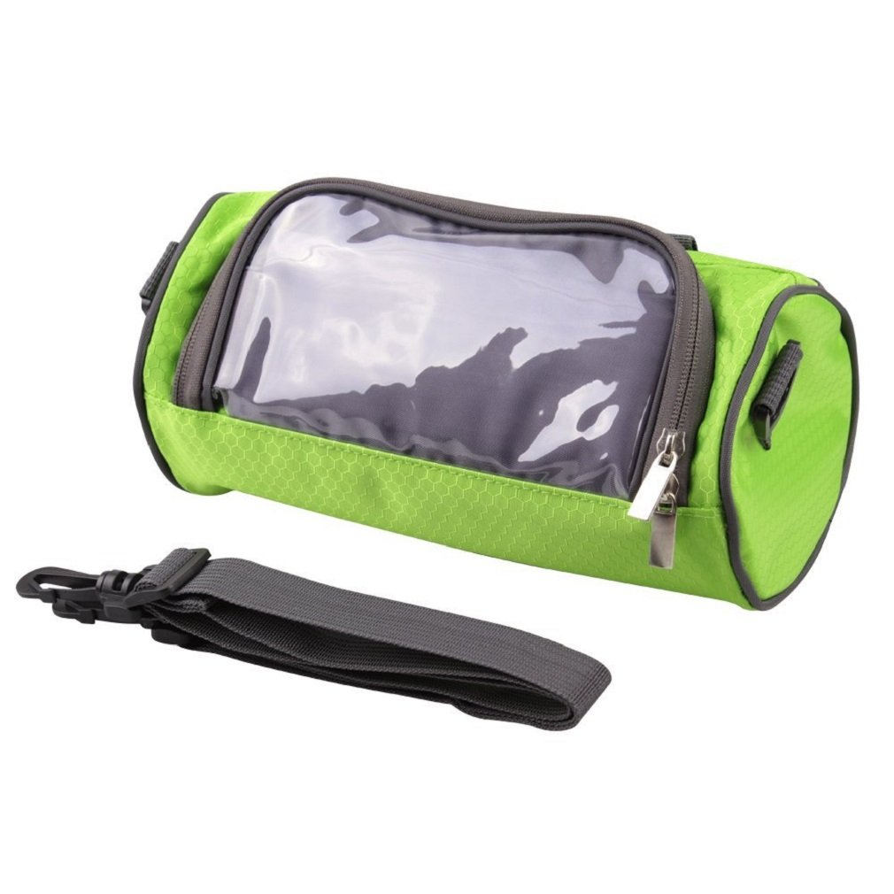 Fahrrad Lenkertasche Fahrradtasche Rahmentasche Handyhalterung Navigationshalterung Wasserdicht Groß 9.0 Inches Sensitive Touch-Screen Schwarz VADOOLL