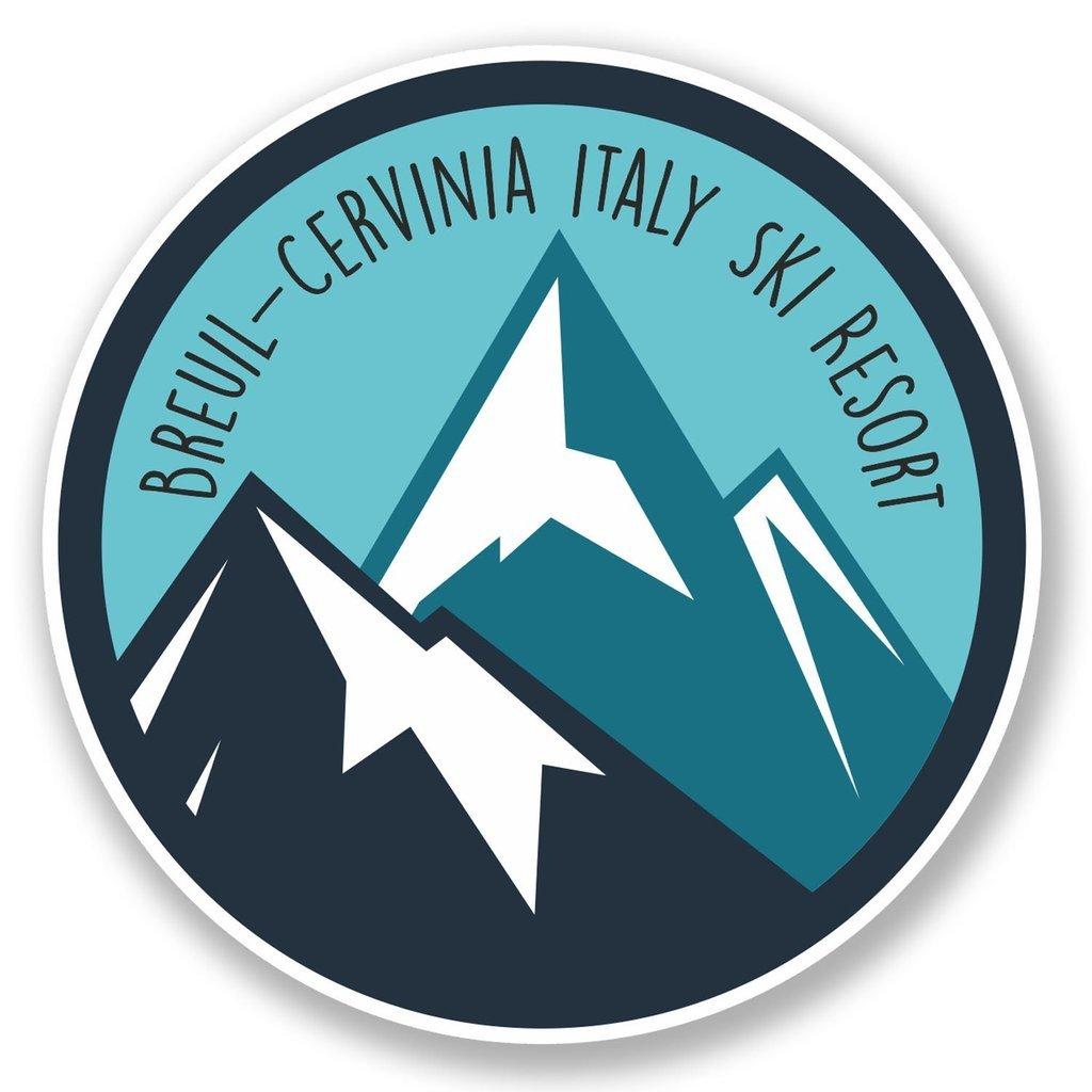 2 X Breuil-Cervinia Italia Esquí Snowboard Resort Pegatina de vinilo de viaje #6449