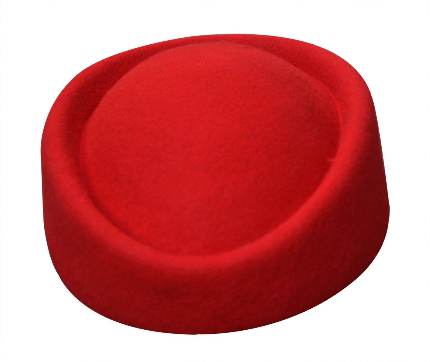 Lawliet Wool Felt Fascinator Wedding Hat Pillbox Hat for Women Pretty Hostesses Cap A139Black