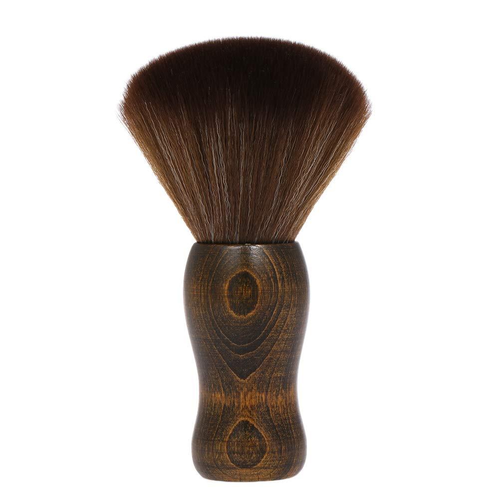 Cepillo Barbero Anself Cepillos de Cuello Peluquería Dedicado Nylon Pelo Suave Madera Manejar Cabello Cepillo de Limpieza