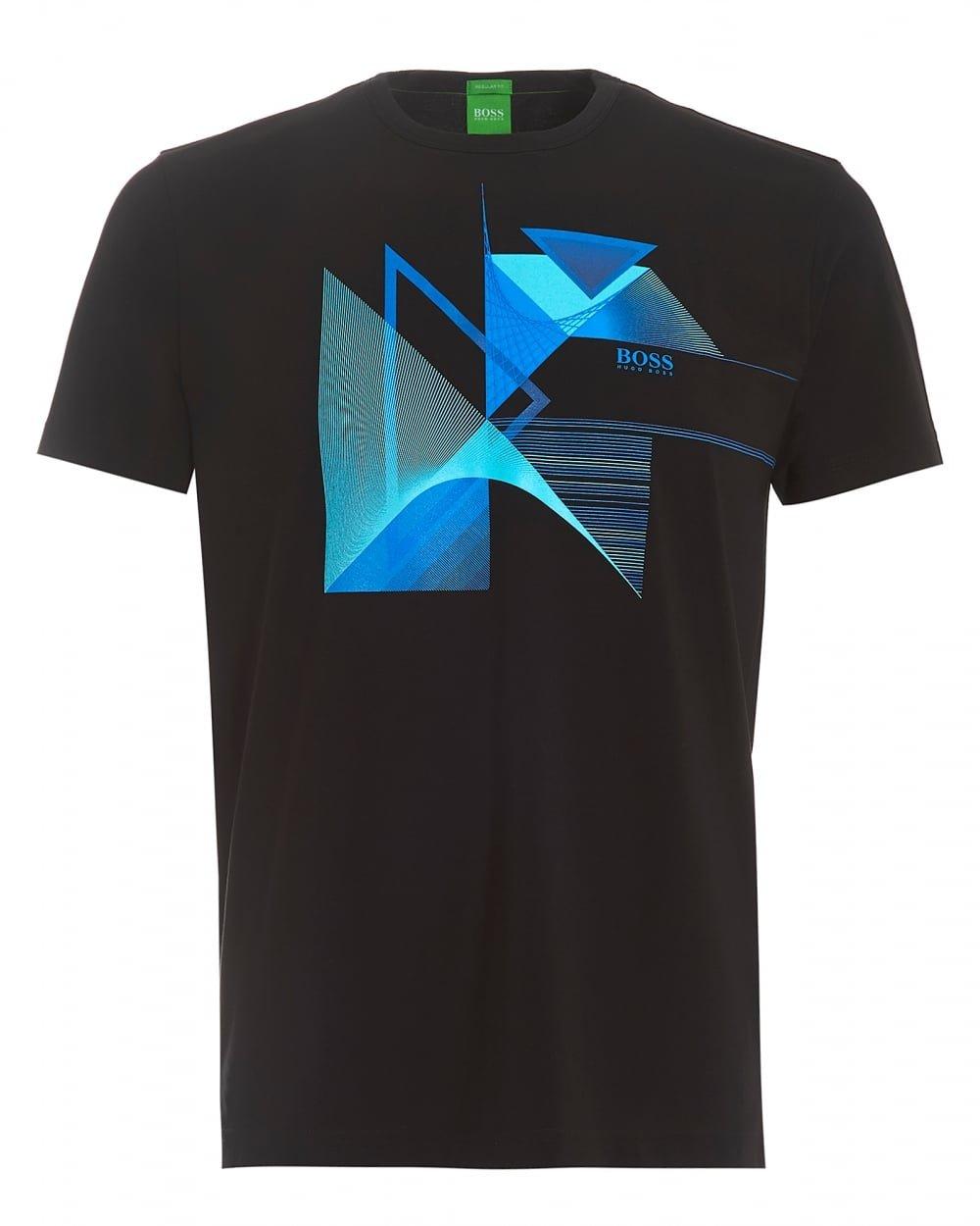 Hugo Boss Mens Short Sleeve Regular-Fit Printed T-Shirt In Single Jersey Tee 7 (L)