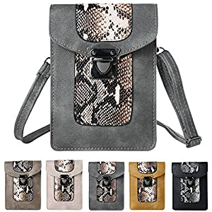 Sumaclife Vertical Slim Fit Crossbody Shoulder Pouch for Acer Liquid Jade 2 / Jade Primo / Z630S Z630 Z530S Z530 Z520 X2 + Mini Phone Stand (Grey)