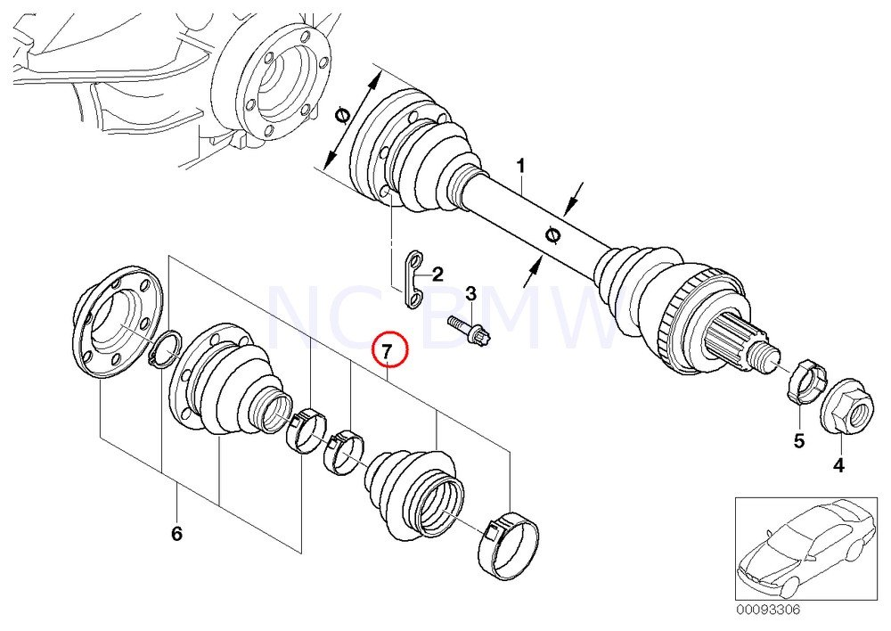 Amazon Com Bmw Genuine Exterior Repair Kit Bellows Automotive