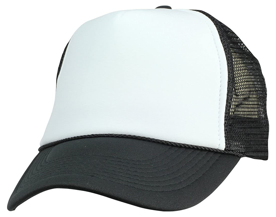 cd998daf799 DALIX Two Tone Summer Mesh Cap in Black and White Trucker Hat at Amazon  Men s Clothing store  Novelty Baseball Caps