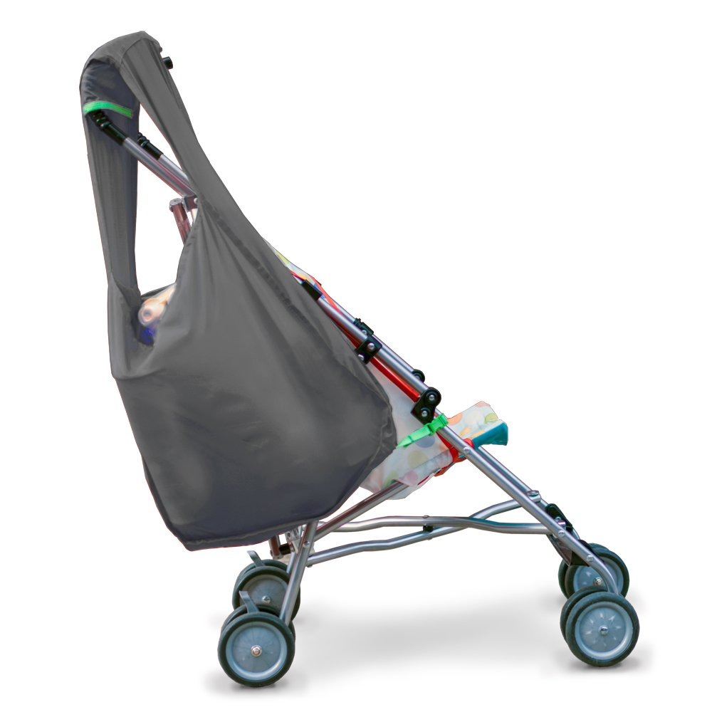 Hatch Things SureShop Reusable Shopping Bag That Clips On To Keep Strollers Standing, Grey