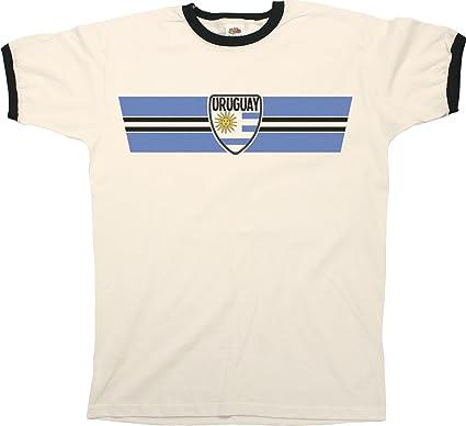 Buzz Shirts Mens World Cup 2018 T-Shirt Uruguay Retro Strip Patriotic  Ringer Football Top  Amazon.co.uk  Clothing ab6f24b1a