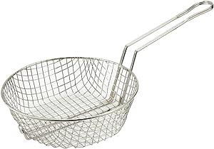 Winco Culinary Basket, 10-Inch Diameter, Coarse Mesh
