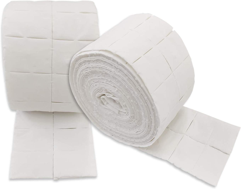 Celulosa para Uñas 2 rollos de 500 uds, Precortadas Suaves Absorventes Total 100 unidades -Dhabmin