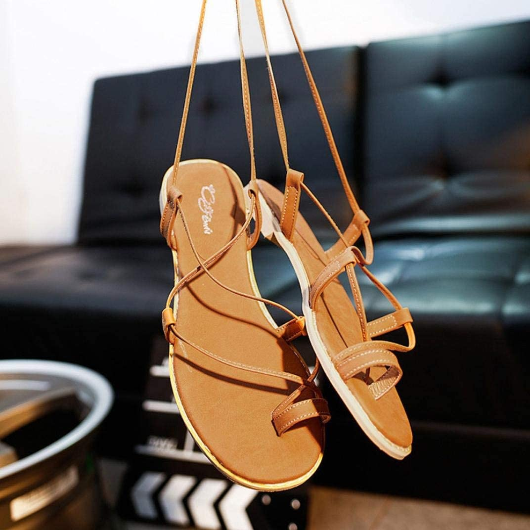 Lady Sandals Womens Cross Strap Mixing Gladiator Sandals Strappy Thong Flat Flip Flops Shoes Fashion Leisure Elegant Cosy Wild Tight Super Quality for Womens