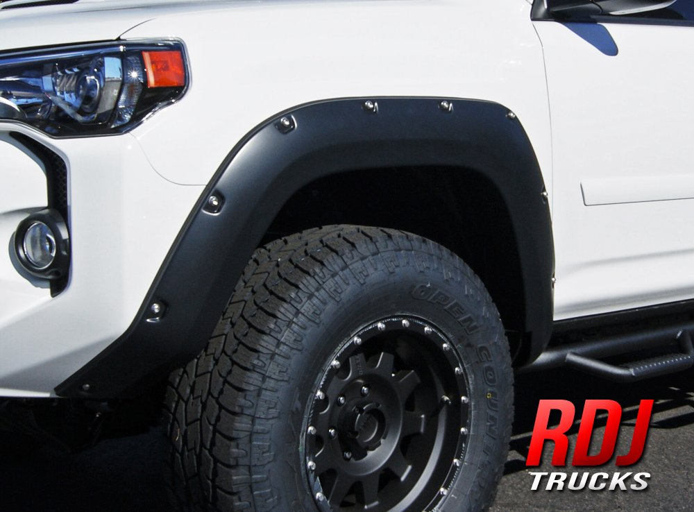 RDJ Trucks PRO-Offroad Bolt-On Style Fender Flares Aggressive Textured Black Fits 4Runner 2014-2019 Set of 4