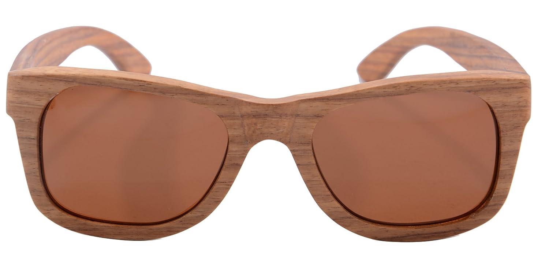 SHINU Wooden Damen Herren Sonnenbrillen Platz Voll Zebra-Rahmen polarisierte Linse 6136 (pear brown) 0Ec6m9Y