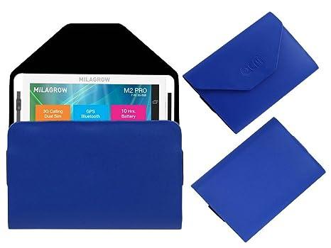 Acm Premium Pouch Case For Milagrow M2 Pro Flip Flap Cover Holder Blue Tablet Accessories