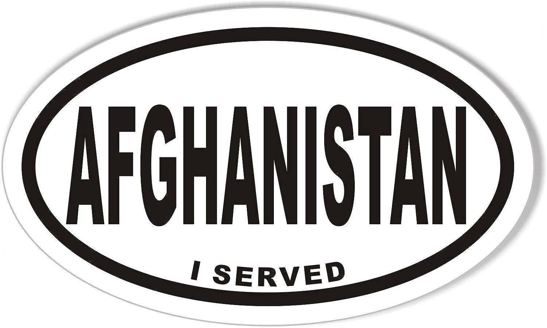 I Served Afghanistan Oval Vinyl Car Graphics Window Sticker Decal US Seller