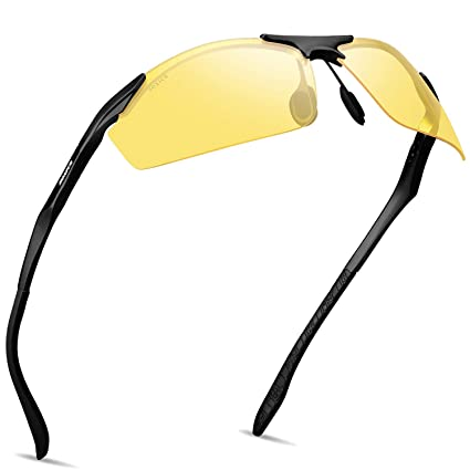 461232d3c0 SOXICK Men s HD Polarized Night Driving Glasses Anti Glare Safety Glasses  Professional HD Night Vision Glasses