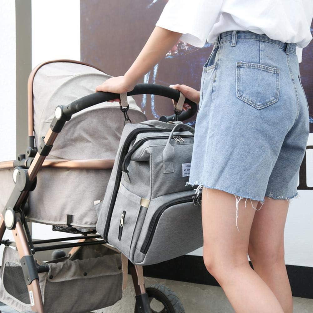 Tragbare Wickeltasche Baby Wickelrucks/äcke 4-in-1 Baby Wickeltasche Bett Baby Rucksack Baby Wickeltasche Babytragen Cabrio Leichtes Babybett Mehrzweck Reisetasche F/ür Outdoor Camping