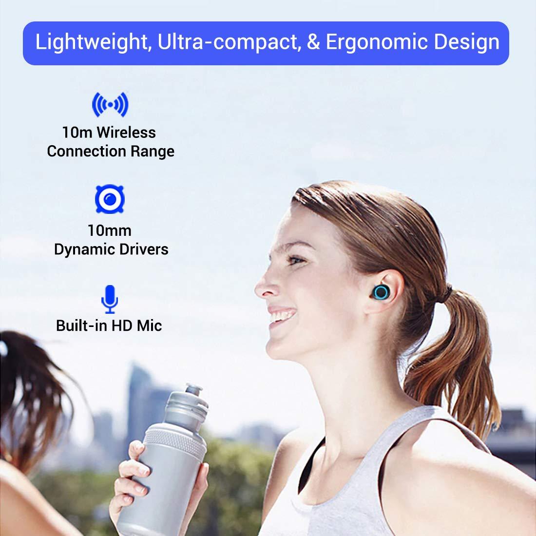 Ptron Bassbuds True Wireless Earbuds(TWS) with Bluetooth 5.0 Technology & High Bass - Best Phones under 15000