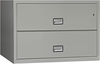 Charmant Phoenix Lateral 44 Inch 2 Drawer Fireproof File Cabinet   Light Gray