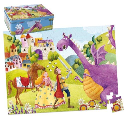 Goula-Puzzle-con-diseo-prncipe-y-dragn-caja-de-metal-54-piezas-Diset-53429