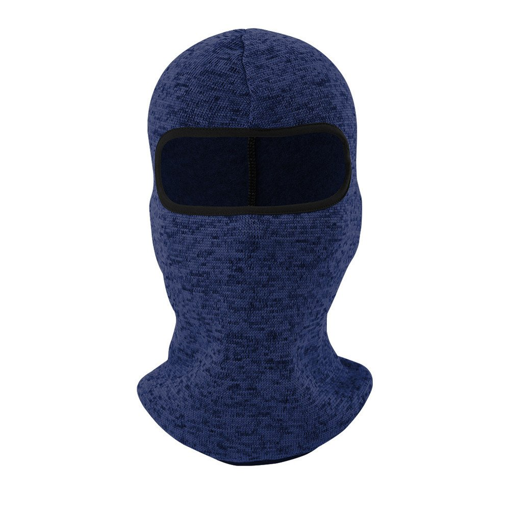 Glumes Velvet Face Mask|Windproof Sun Dust Cold Snow Rain Protection|Solid Color|Tactical Mask Bandana Face Shield Warm Scarf|Motorcycle Fishing Hunting Cycling Skiing Autumn Winter (Blue)