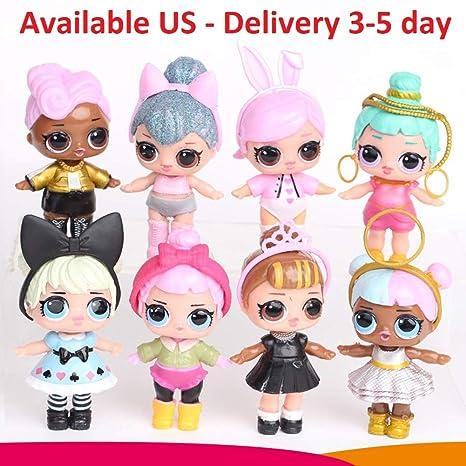 Amazon.com: LQT Ltd Juego de 8 muñecas de desembalaje ...