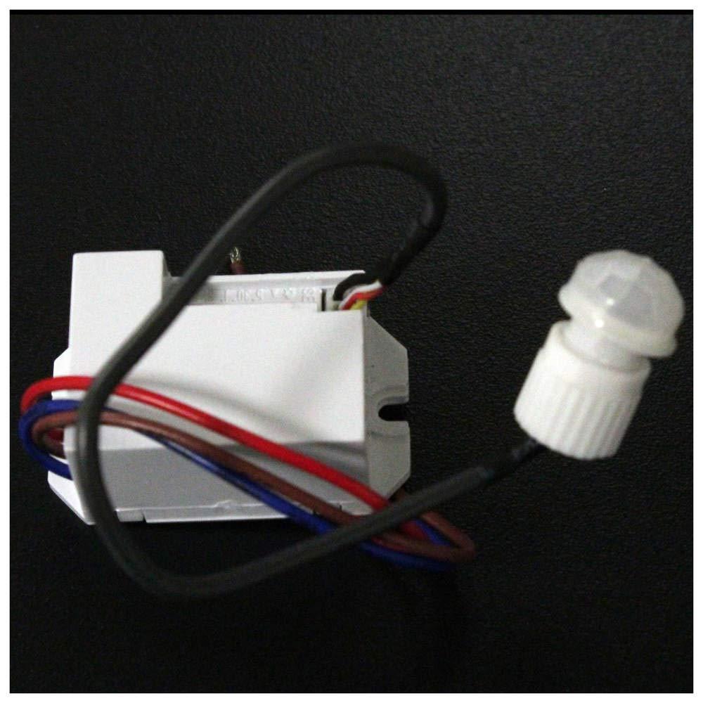 Cablematic - Infrarouge détecteur de Mouvement de Plafond encastré Mini- Cablematic.com PN10121418200124432