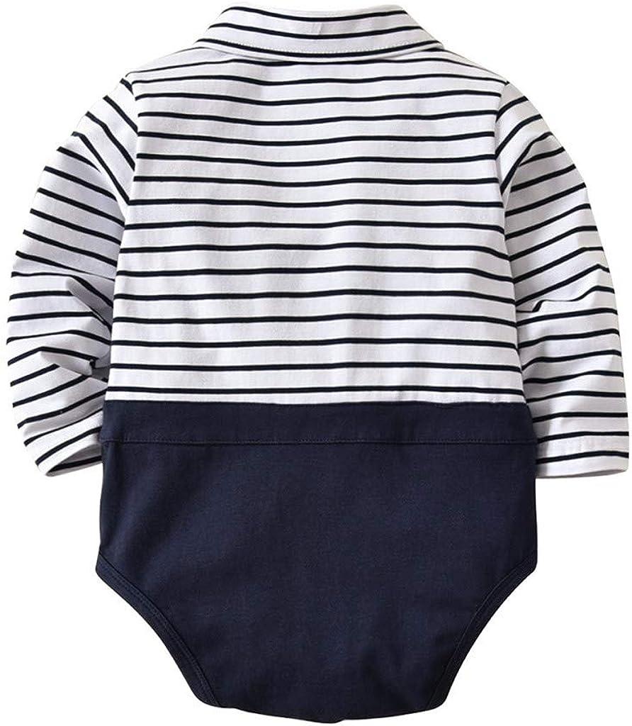 MAYOGO Ropa de Bebe Nautica Mono Mameluco Manga Larga Raya ...