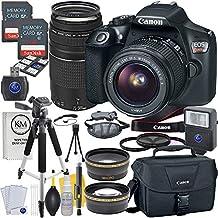 Canon EOS Rebel T6Cámara réflex digital w/EF-S lentes de 71/100 –2.16 pulgadas, EF lentes de 2.95 –11.81 pulgadas, accesorios Premium y audio technica audífono