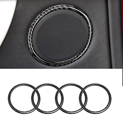 Carbon Fiber Car Door Speaker Trim Cover For BMW 3 Series F30 GT F34 2013-2017 (Series Speaker Gt)