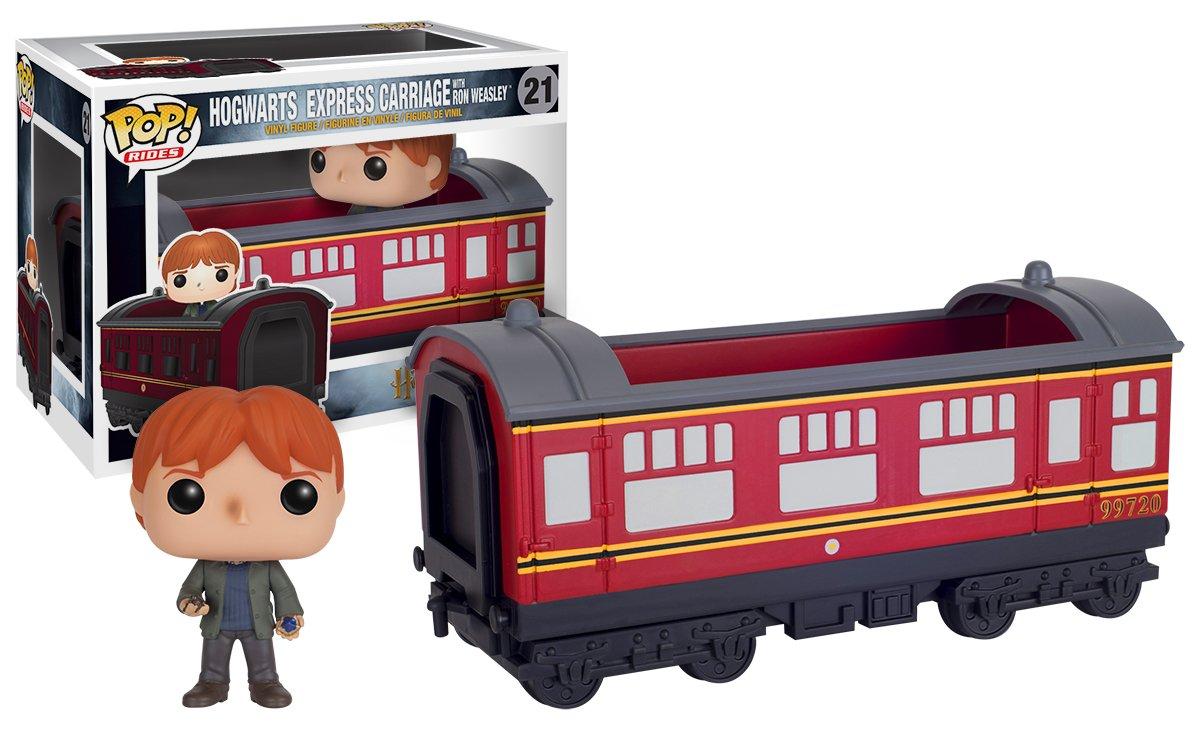 Funko Pop! Harry Potter - Expreso  de Hogwarts con Ron tren, ferroccarril donde viajan