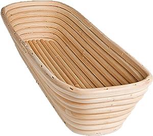Frieling USA Brotform Rectangular Bread Rising Basket, 15-Inch by 5.5-Inch