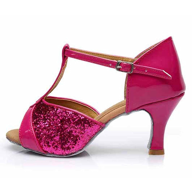 HROYL Women W7-W08 Satin Latin Dance Shoes