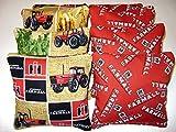 8 Cornhole Farmall International Harvester Mccormick Bean Bags Brown Tractor