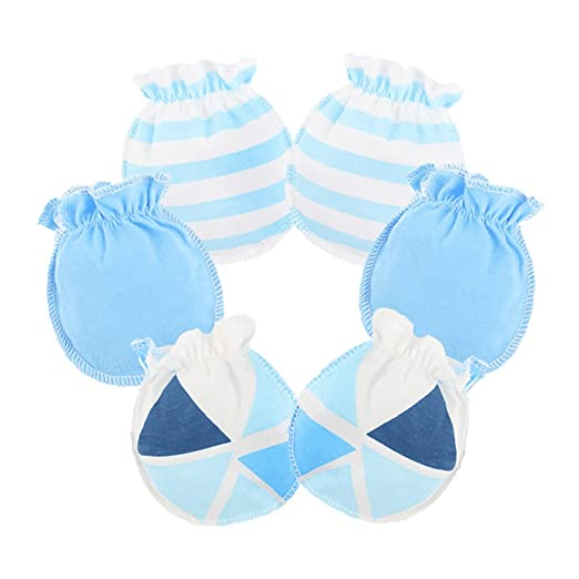578f811fa Amazon.com  Ehdching 3 pack Baby Gloves Cotton no Scratch Mittens ...