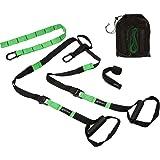 Joyfit Suspension Body Fitness Trainer With Door Anchor, Adjustable Buckles & Heavy Duty Grip Handles For Resistance (Green Color)