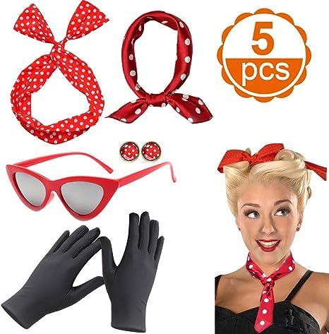 Accesorios de los Mujer años 50 ,CoolBa Accesorios Disfraz mujer ...