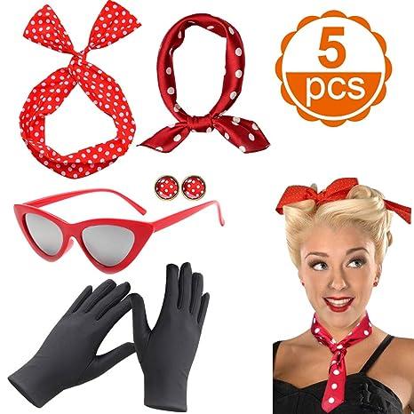 Accesorios de los Mujer años 50 ,CoolBa Accesorios Disfraz ...